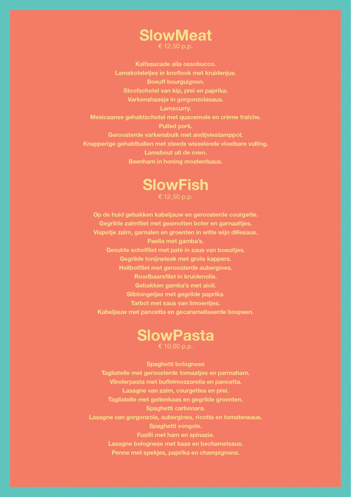 SlowMeat Fish en Pasta